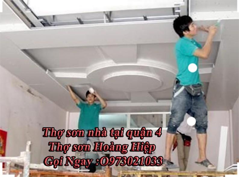thợ sơn nhà tại quận 4 uy tín