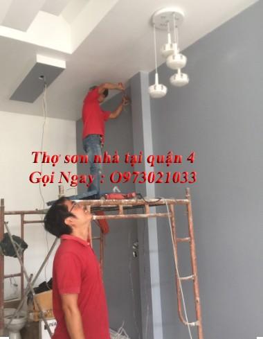 Thợ sơn nhà tại quận 4 chuyên nghiệp